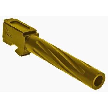 Barrel for Glock 17 GEN3/4 V1 Gold
