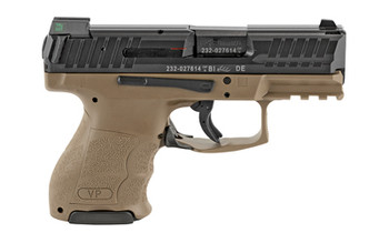 "HK 81000292 VP9 SK 9mm Luger 3.39"" (2) 10+1 (1) 13+1 Black Steel Slide Flat Dark Earth Interchangeable Backstrap Grip"