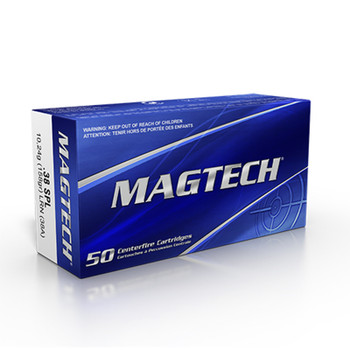 Magtech 38 Special Ammunition 38A 158 Grain Lead Round Nose 50 Rounds - 38A
