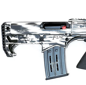 Black Aces Pro Series Bullpup Pump Shotgun - Distressed White