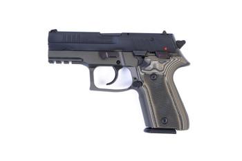 Arex Rex Zero 1CP-07G1 Green with Hogue Checkered Green Grips 9mm 15 Round Pistol