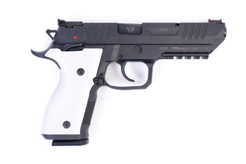 Arex Rex Alpha 9 9mm Black with White Aluminum Grips Semi-Automatic 20 Round Pistol