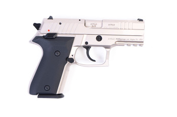 Arex Rex Zero 1CP-06B1 Silver with Hogue Black Grips 9mm Semi-Automatic 15 Round Pistol