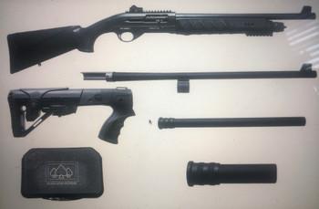 Black Aces Tactical Pro Series X Semi-Auto Shotgun - Black
