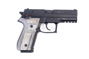 Arex Rex Zero 1S-01G Black with Hogue G10 Green Mascus Grips 9mm 17 Round Pistol