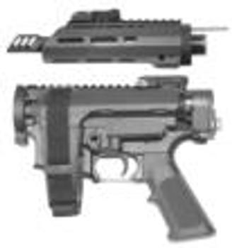 "Diamondhead Transporter Takedown Pistol 5.56mm 30rd Magazine  7.5"" Barrel Black"