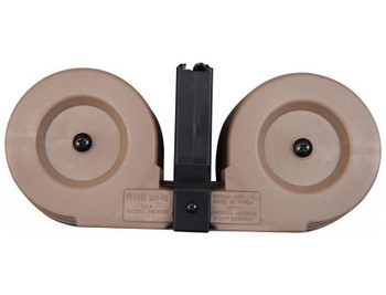 RWB AR-15 .223/5.56 Dual Drum Magazine - Desert Tan
