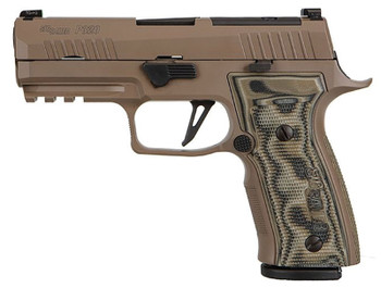 "Sig Sauer 320AXGCA9CWSCPNR210 P320 AXG Scorpion 9mm Luger 3.90"" 10+1 Flat Dark Earth Stainless Steel Flat Dark Earth Hogue G10 Piranha Grip"
