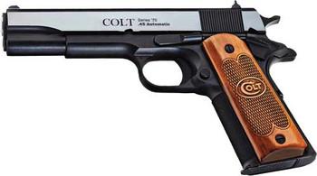 """COLT 1991 45ACP 5"""" FS 7-SHOT BLUED SERIES 70 ENGRAVE (TALO)"""
