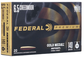 FEDERAL GOLD MEDAL 6.5CREED 140GR BERGER HYBRID