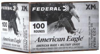 Federal AE223BLX American Eagle  223 Rem 55 gr Full Metal Jacket Boat Tail (FMJBT) 100 Bx/ 5 Cs