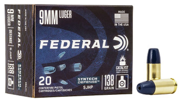 FEDERAL SYNTECH DEFENSE 9MM 138GR SJHP