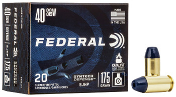 FEDERAL SYNTECH DEFENSE 40SW 175GR SJHP
