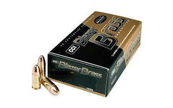 CCI Blazer Brass 9MM 115 FMJ 50/1000