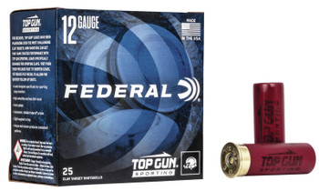 "FEDERAL 12GA 2-3/4"" 1OZ 1,250 FPS 8   Top Gun"