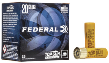 "FEDERAL 20GA 2 3/4"" 7/8OZ 1,250 FPS 8   Top Gun"