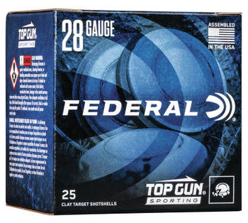 "FEDERAL 28GA 2 3/4"" 3/4OZ 1,330 FPS 8   Top Gun"