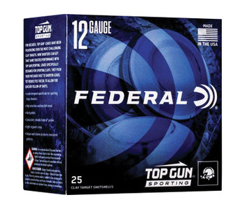 "FEDERAL 12 GA 2 3/4"" 1OZ 1300 FPS 8   Top Gun"