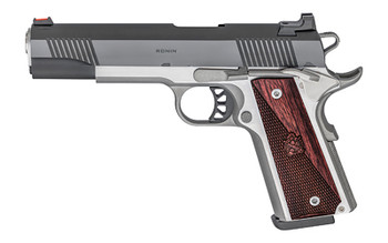 """SPRINGFIELD ARMORY 1911-A1 10MM RONIN 5"""" SS/FRAME BLUED SLIDE WOOD GRIP"""