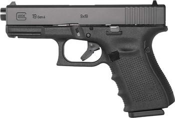 GLOCK 19 GEN4 9MM LUGER FS THREADED BBL 15-SHOT BLACK