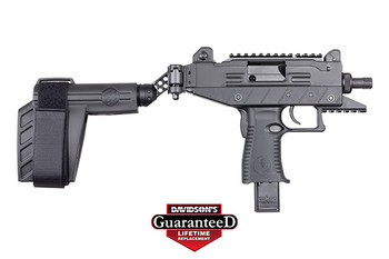 "IWI US UPP9SB-T Uzi Pro  9mm Luger 4.50"" TB 25+1 Black Black Side Folding Pistol Brace Stock Black Polymer Grip Right Hand"