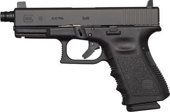 GLOCK 19 GEN5 9MM LUGER FS THREADED BBL 15-SHOT BLACK