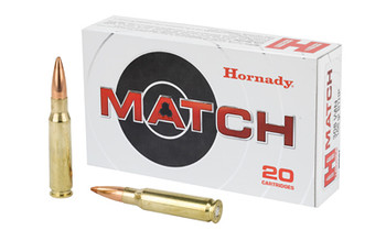 Hornady 308Win 168 Grain Weight Bthp Mtch 20/200