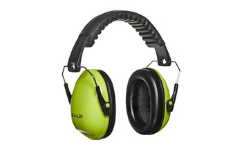 Allen 2327 Sound Shield Youth Foldable Safety Earmuffs 21 dB Over the Head Black/Chartreuse