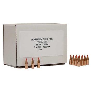 Hornady Bullet 22Cal .224 55gr V-Max