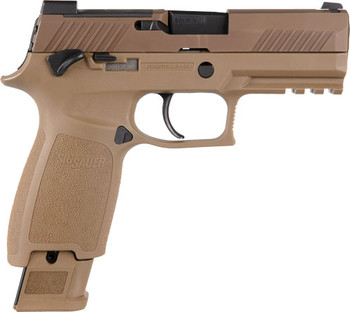"""SIG SAUER P320 9MM M18 3.9"""" SIGLITE OPTIC READY COYOTE W/SAFETY"""