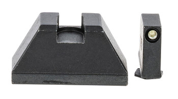AmeriGlo GL810 Tall Suppressor Height Sight 2XL Tritium Green w/Black Outline Front Flat Black Rear Black Frame for Glock Except 42 & 43