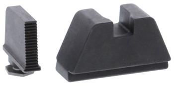 AmeriGlo GL470 Tall Suppressor Height Sight 2XL Black Serrated Front Flat Black Rear Black Frame for Glock Except 42 & 43
