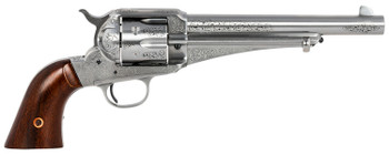 "Taylors & Company 0151W00L02 1875 Army Outlaw 45 Colt (LC) 6rd 7.50"" Nickel Engraved Walnut Grip"