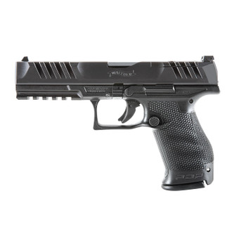 "Walther Arms 2858169 PDP Compact Optic Ready 9mm Luger 5"" 10+1 Black Black Steel Slide Black Polymer w/Performance Duty Texture Grip"