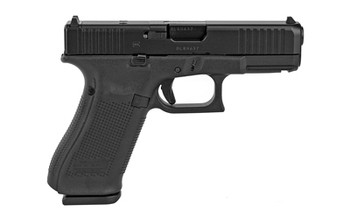 """Glock  G45 Compact Crossover 9mm Luger 4.02"""" 17+1 Black Black nDLC Steel with Front Serrations & MOS Cuts Black Rough Texture Interchangeable Backstraps Grip Fixed Sights"""