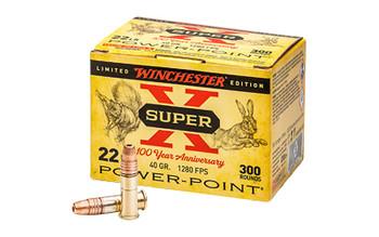 WINCHESTER SUPER-X 100 YEAR ANN PP 22LR 40GR 300/10