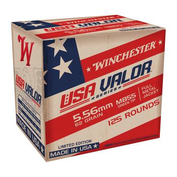 WINCHESTER USA VALOR 5.56MM M855 62GR FMJ 125/10