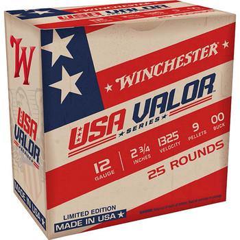 WINCHESTER USA VALOR 12GA 2.75 00BUCK 9PEL 25/10