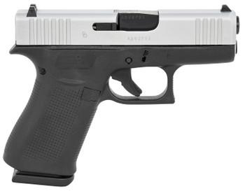 "Glock UX435SL201 G43X Subcompact 9mm Luger 3.41"" 10+1 Black Silver Steel Slide Black Polymer Grip"