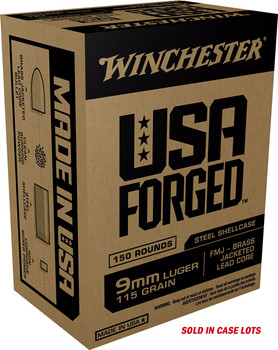 WINCHESTER AMMO USA 9MM LUGER (CASE) STEEL CASE 115GR. FMJ-750RDS