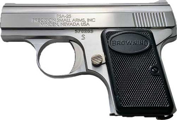 """PRECISION SMALL ARMS PSA-25 BABY S/S STANDARD .25ACP 2.13"""" 6RD STAINLESS"""