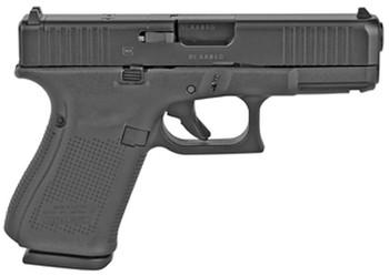 "Glock UA225S201MOS G22 Gen5 MOS 40 S&W 4.49"" 15+1 Black Black nDLC Steel with Front Serrations & MOS Cuts Black Rough Texture Interchangeable Backstraps Grip"
