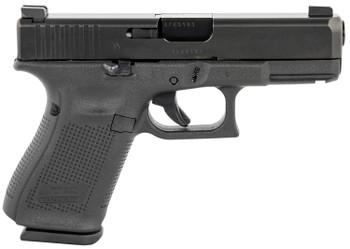 """Glock UM195F33A G19 Compact 9mm Luger 4.02"""" 15+1 Black Black Steel Slide Black Polymer Grip Flared AmeriGlo Sights"""
