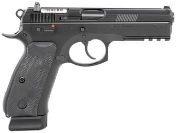 "CZ 89152 CZ 75 SP-01 9mm Luger 4.60"" 18+1 Black Black Steel Slide Black Rubber Grip Luminescent Night Sights"