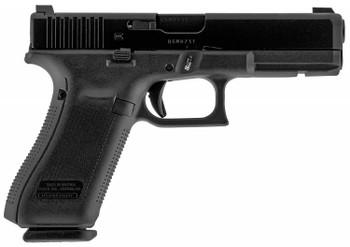 """Glock UM175F33A G17  9mm Luger 4.49"""" 17+1 Black Black Steel Slide Black Polymer Grip Flared AmeriGlo Sights"""