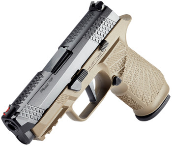 "Wilson Combat SIGWCP320C9TATS WCP320  9mm Luger 3.90"" 17+1 (2) Black DLC Slide/Barrel Tan Polymer Grip with Beveled Magazine Well & XFULL Trigger"