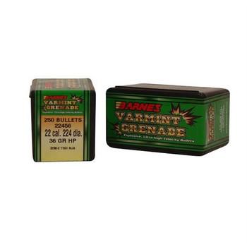 Barnes 22Cal 36Gr Varmint Grenade 250/Box 30189