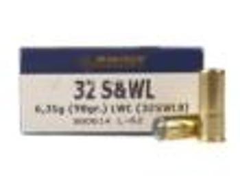 Magtech Ammo 32 S&W Long 98Gr LWC 50/Bx 32SWLB