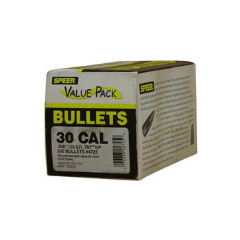 Speer Bullets 4725 TNT  30 Caliber .308 125 GR JAC