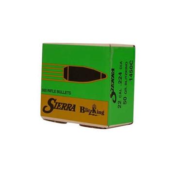Sierra Bullets 22 CAL (.224) 50Gr Blitzking 500/Bx